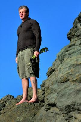 Warrington climber Paul Hersey at Doctors Point, north of Dunedin, where he trains for...