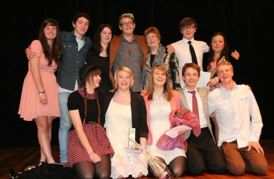 Year 13 drama  pupils at Logan Park High School in Dunedin bid farewell to teacher Denise Walsh ...