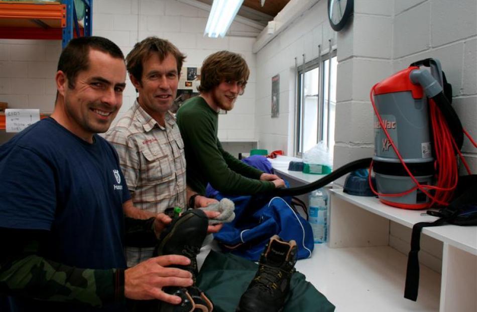 Yellow-Eyed Penguin trust field ranger Leith Thomson (left), of Dunedin,  and Dunedin-based...