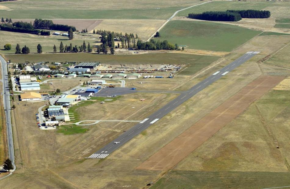 An aerial shot of Wanaka Airport taken last year. Photo by Stephen Jaquiery.