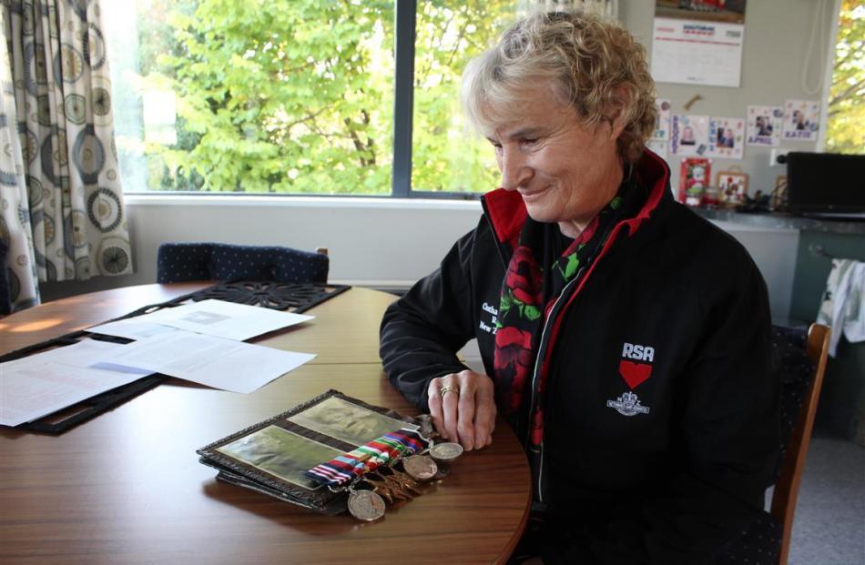 Balclutha RSA treasurer Pauline Soper, who will travel to Italy to lay a wreath alongside the...