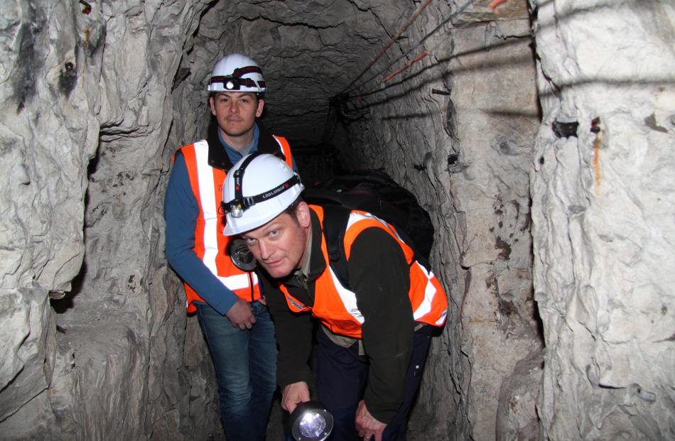 Chris Page (left) and Richard Hemi investigate tunnels dug by New Zealand troops at Arras. Photo:...