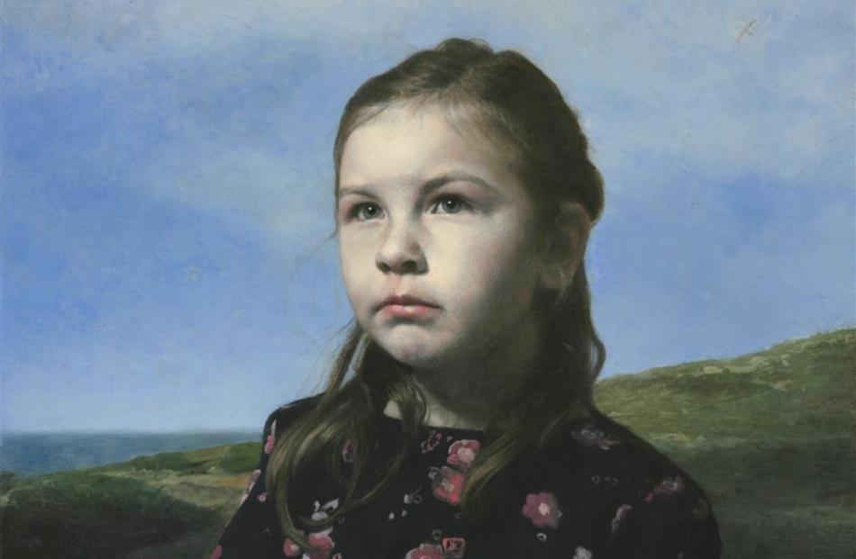 Dunedin artist Simon Richardson's portrait of his daughter Mila, which has been selected for an...