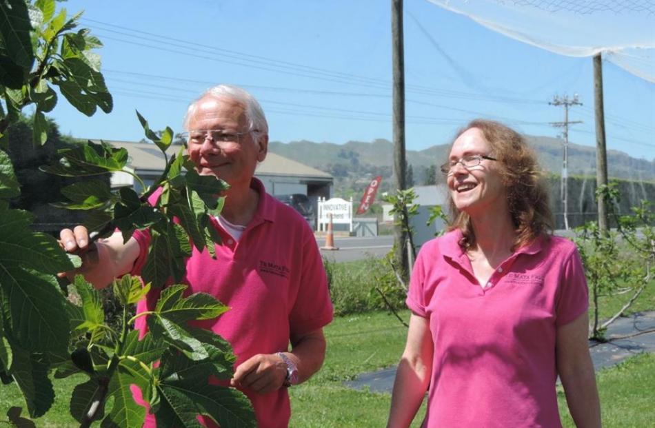 Murray Douglas and Helen Walker, of Te Mata Figs. Photo: Charmian Smith