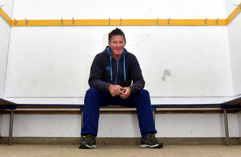 Phil Young in the changing sheds at the Taieri club. Photos by Peter McIntosh/ODT.