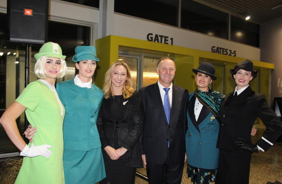 Prime Minister John Key and Invercargill MP Sarah Dowie (centre) at  last night's official...