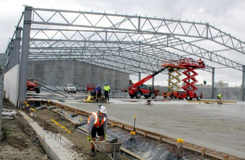 South Port's new $4.25 million inland port freight hub in Invercargill. Photo by Allison Beckham.