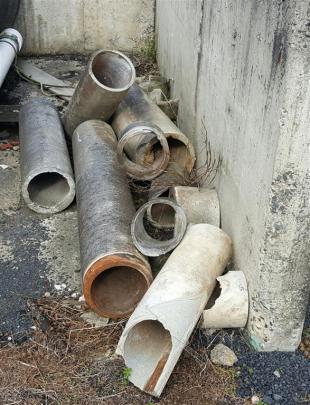 The asbestos pipes. Photo: Gregor Richardson