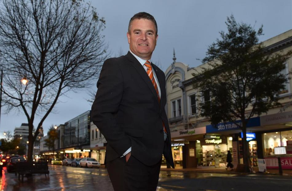 First Retail Group Ltd managing director Chris Wilkinson stands in George St before his...