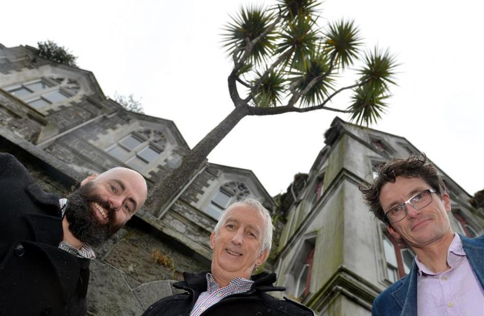 Gathered at Dunedin's Dominican Priory, which has funding for a new roof, are (from left) Dunedin...