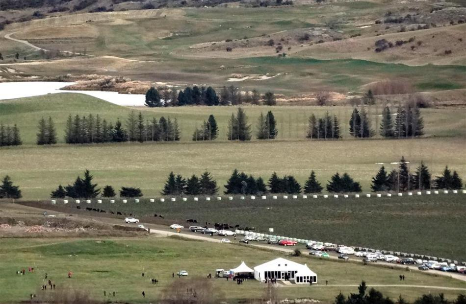 Saturday's Hanley's Farm open day, as seen from The Remarkables ski area access road. Photo by...