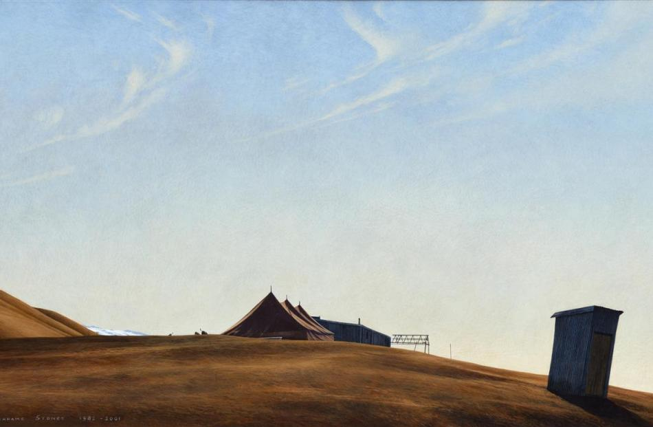 Grahame Sydney paintings rarely come on the market but this landscape titled Dog Champs at...