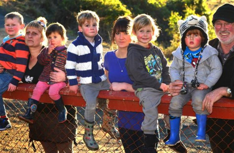 Children and parents from the former Kidsown Early Learning Centre (from left) Harper Wilson (4),...