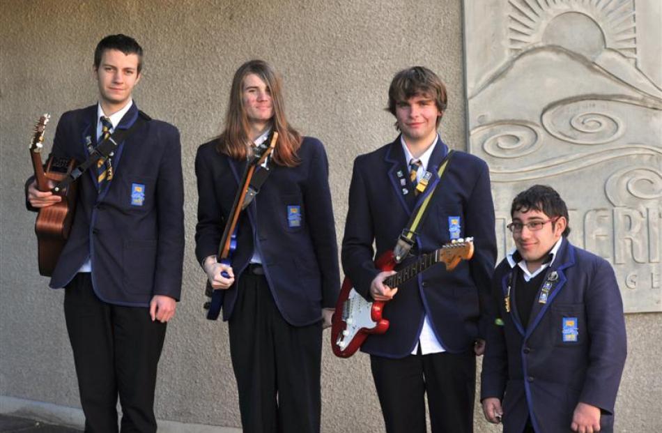 Flat Passengers (from left) James McKenzie, Cody Walker, Hamish Graham and Kiran Dixon (all 17).