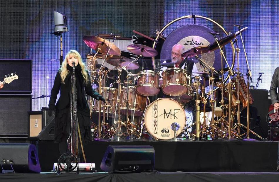 Fleetwood Mac members (from left) John McVie, Stevie Nicks, Mick Fleetwood and Lindsey Buckingham...