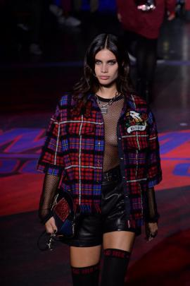 """Hilfiger's show was a """"see now, buy now"""" event - a recent trend in the fashion industry that sees labels make outfits displayed in catwalk shows available to consumers to purchase immediately. Photo: Reuters"""