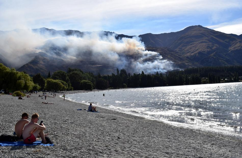 Yesterday's huge fire on Mt Alpha was visible from central Wanaka.