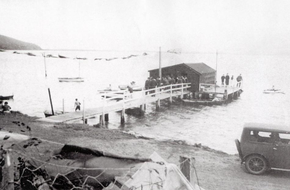The Hoopers Inlet boat shed photographed in the 1930s. Photo: Supplied
