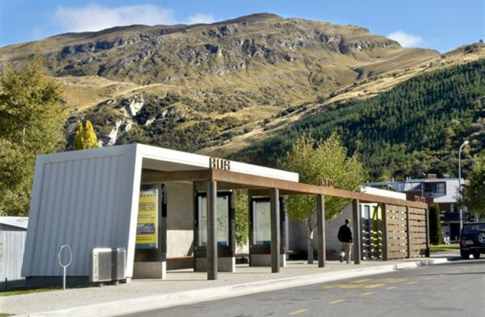The Frankton bus shelter and public toilets by Mary Jowett Architects. Photo supplied.