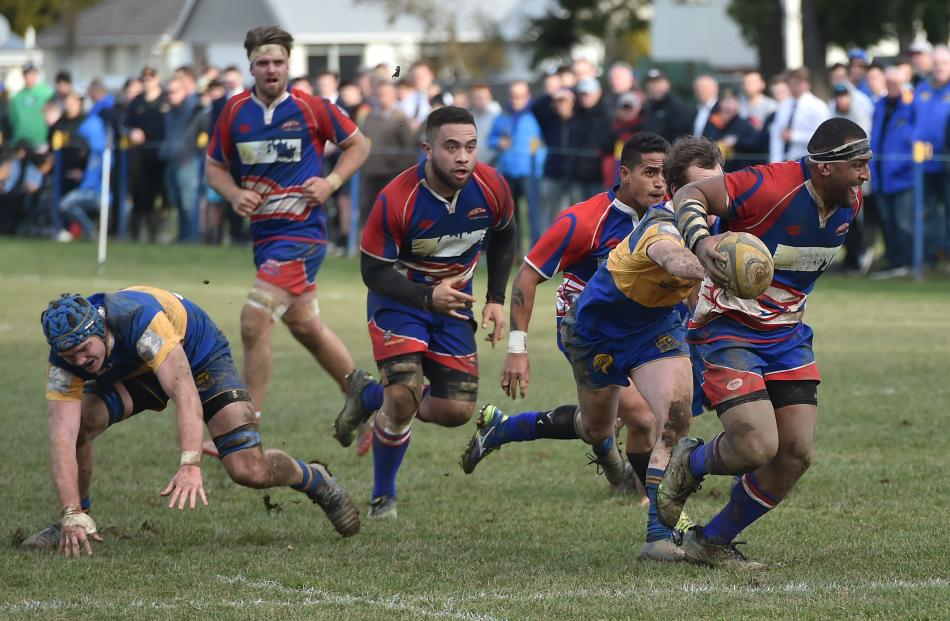 Harbour bust throught the middle of the Taieri defence. Photo: Gregor Richardson