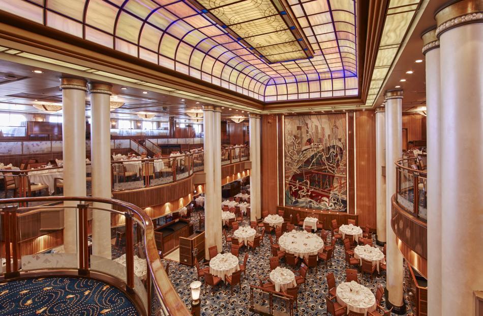 The luxury ocean liner Queen Mary 2 includes the Britannia Restaurant.