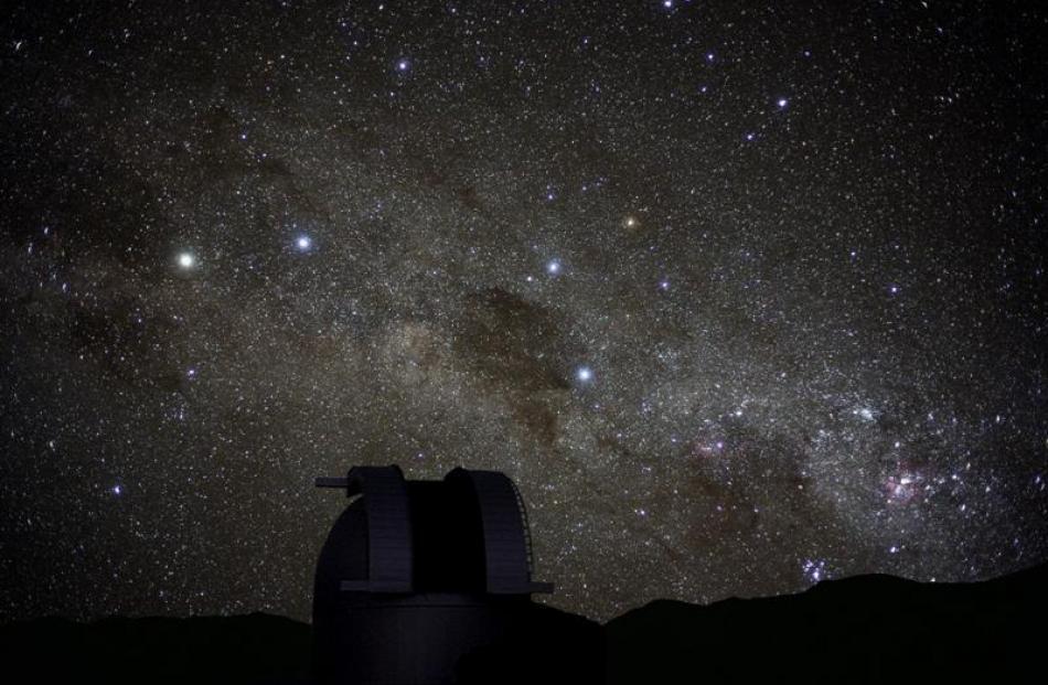 The night sky above the Mt John observatory at Tekapo. Photo by Fraser Gunn.