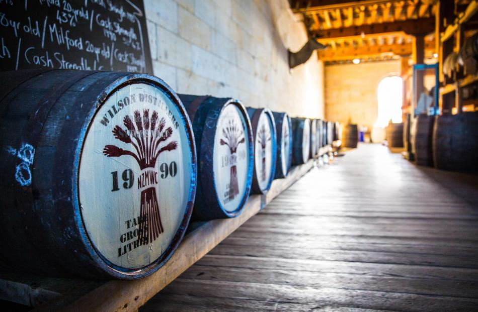 Barrels from the former Wilson's Distillery mature at The NZ Whisky Collection bonded warehouse in Oamaru