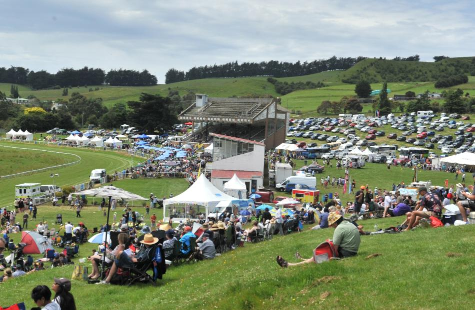 About 2000 people attended the races at Waikouaiti yesterday. Photos: Christine O'Connor
