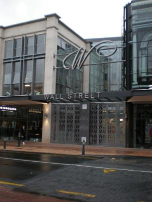 The first glance of the new George Street entrance to Wall Street Mall, 2009.
