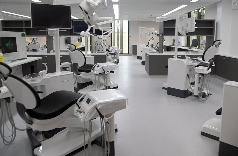 A view inside the now-completed clinical services building.