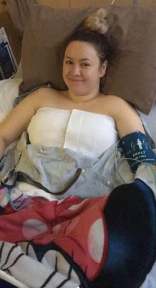 Immediately after the operation. PHOTO: SUPPLIED