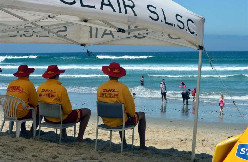 St Clair Surf Life Saving Club members (left to right) Cam Burrow, Bailey Brandham and Hamish...