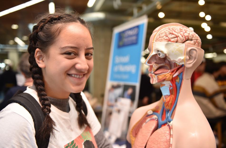 Tyler Fata (16), from Hamilton, is interested in studying nursing at Otago Polytechnic.