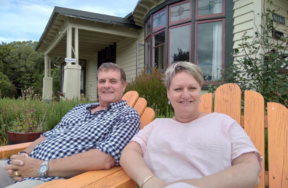 Lyndon and Gill McKenzie's historic villa in the Catlins Mohua Park. PHOTOS: MARY-JO TOHILL