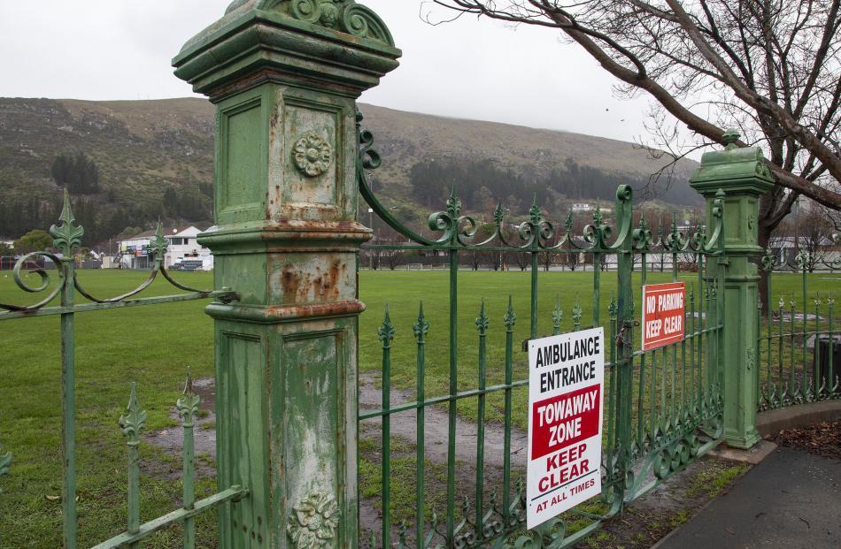 The St Leonards Park gates. Photo: Geoff Sloan