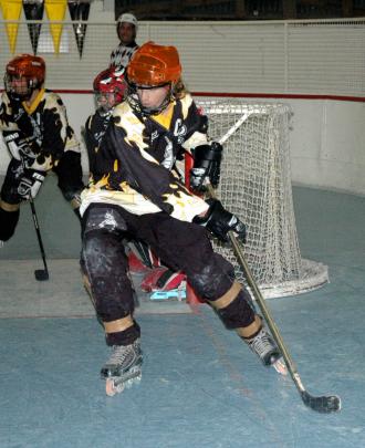 Benjamin Gellie playing roller hockey. Photo: Supplied