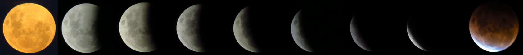 Mike Hartley took this sequence of photos of last night's total eclipse.