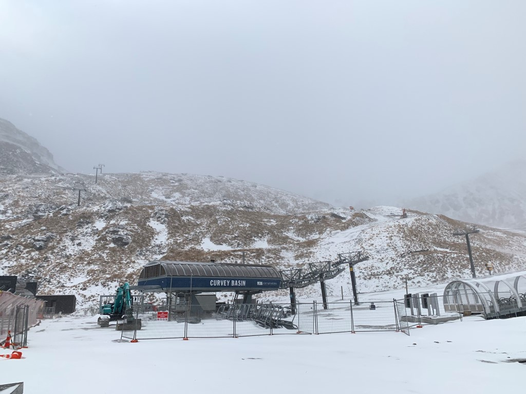 Snow at The Remarkables this morning. Photo: NZSki Ltd