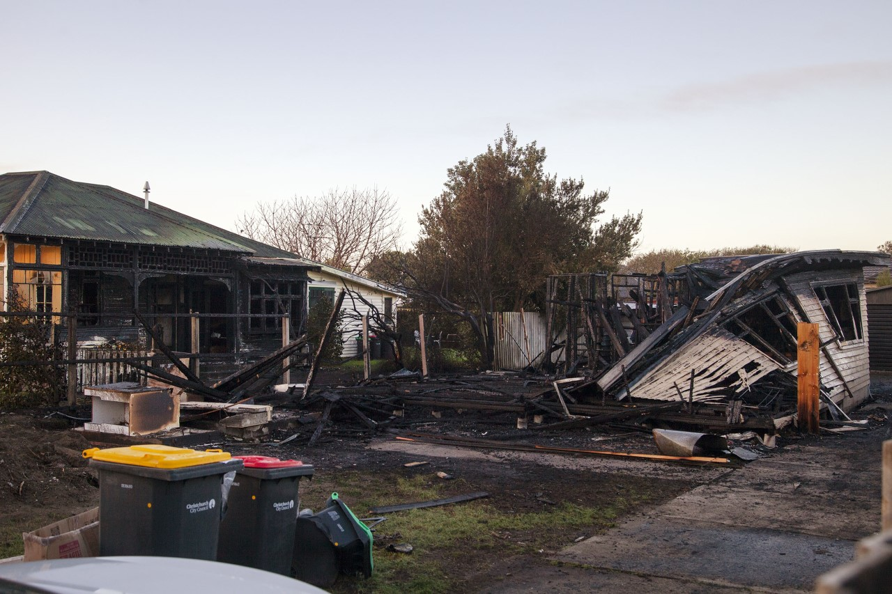 Emergency services were called to the blaze on Rawson St in New Brighton about 1.45am. Photo:...