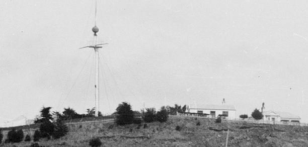 The timeball circa 1905. Photo: Te Papa