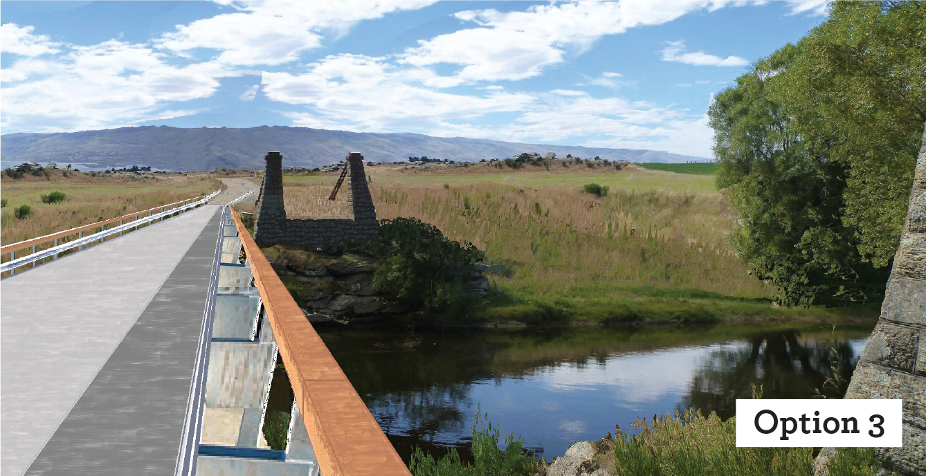 DOWNSTREAM DESIGN: The third option  will shift the new bridge downstream, while restoring the ...