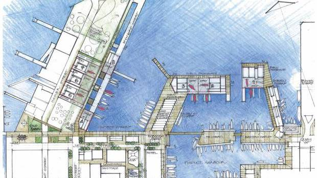 America's Cup Village proposal hybrid plan. Photo: supplied