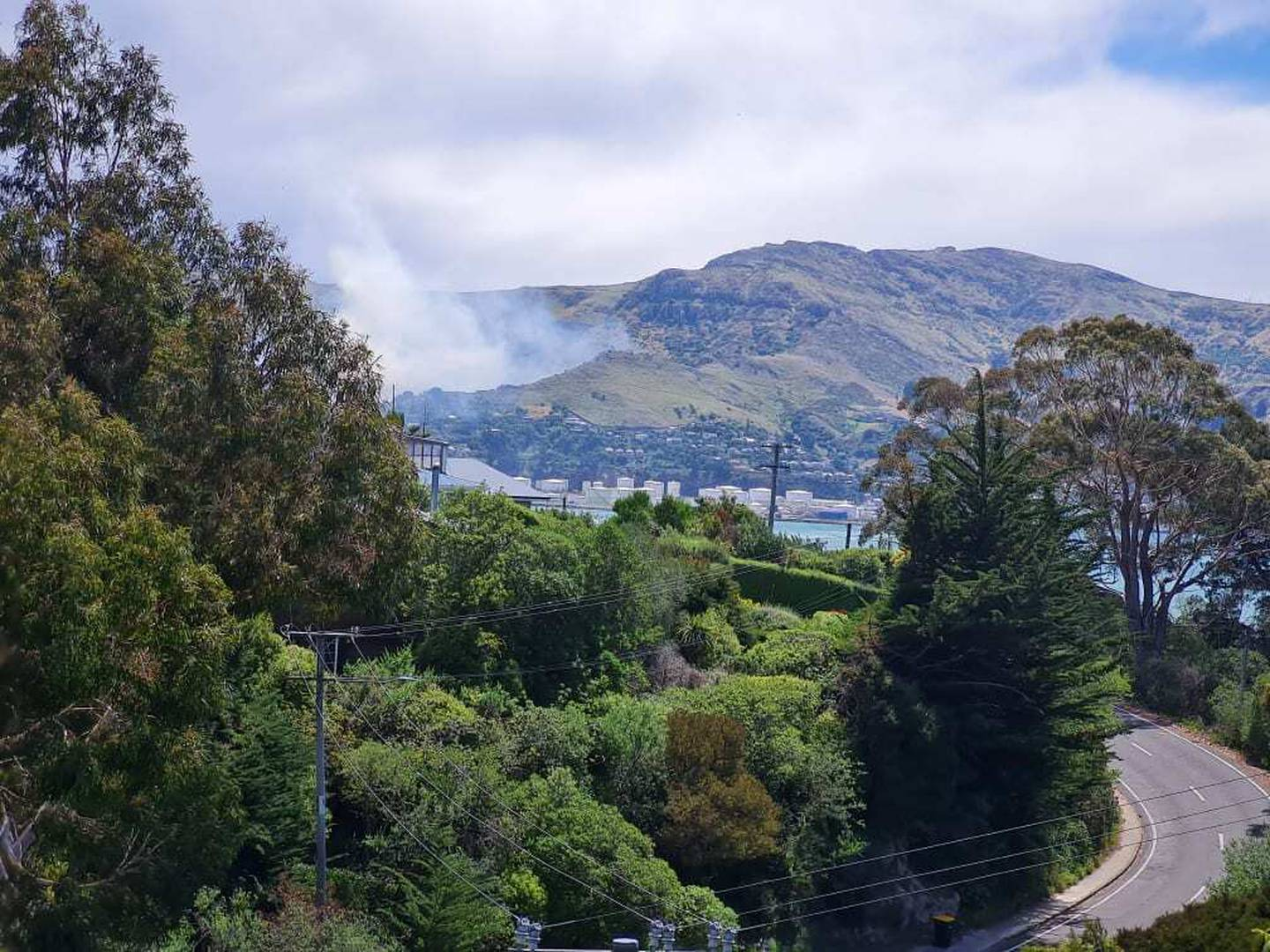 The Cass Bay fire. Photo: Supplied