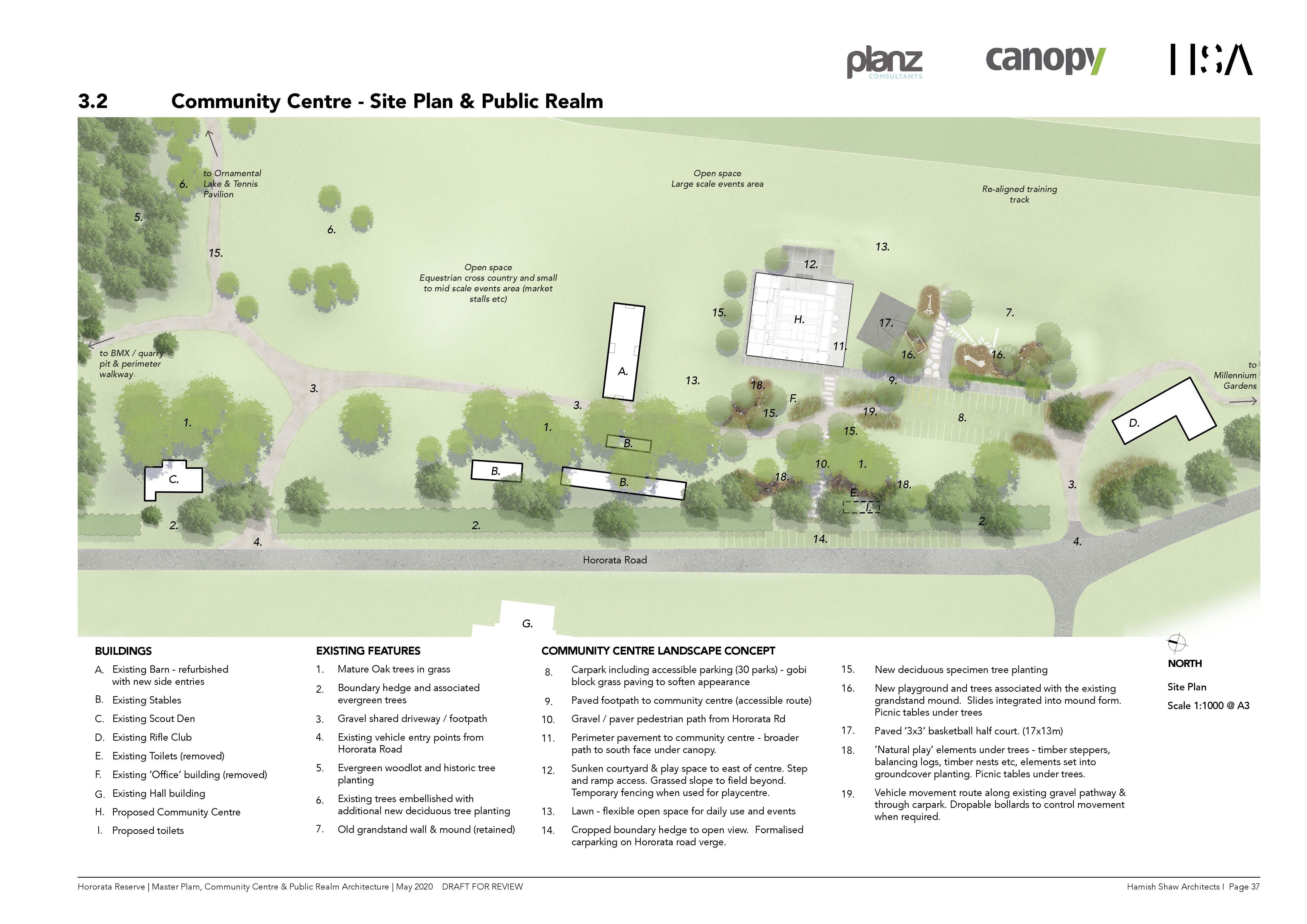 Community Centre - Site plan and public realm. Image: Selwyn District Council