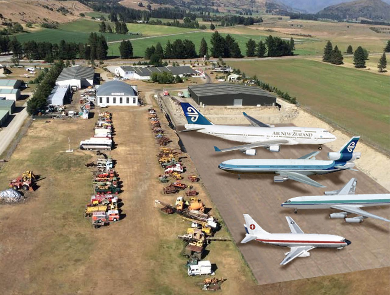 A composite picture of how Wanaka's National Transport and Toy Museum might look with passenger...