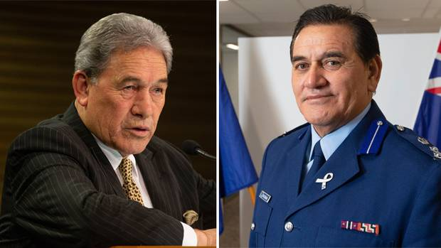 Winston Peters (left) and Wally Haumaha. Photo: NZ Herald