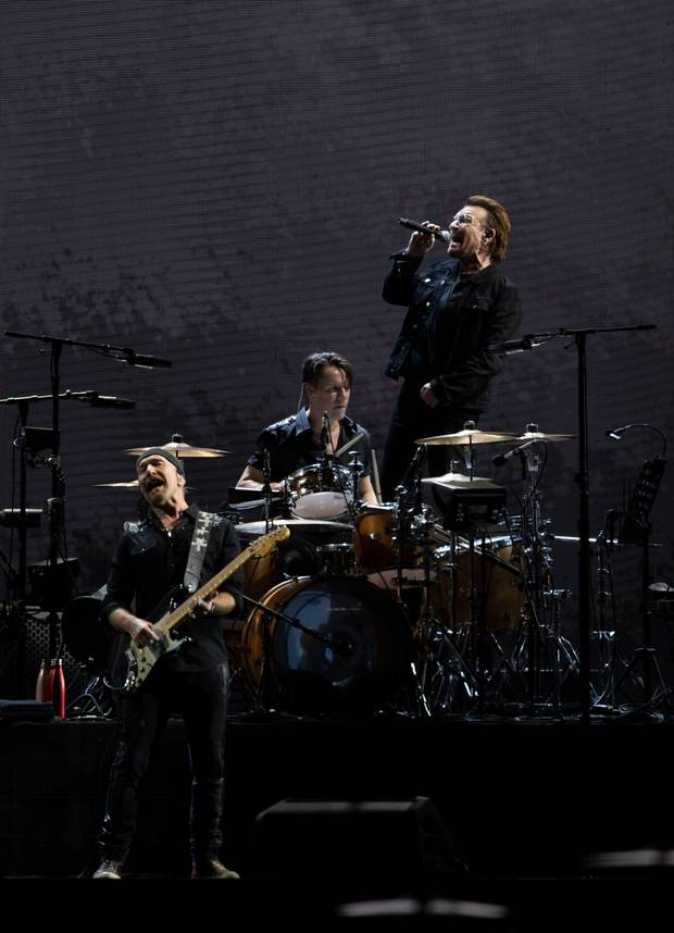 U2 perform at Mt Smart Stadium. Photo / Greg Bowker Visuals via NZ Herald