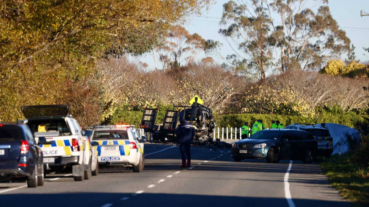 Emergency services were called to the scene on Tram Rd about 7.29am. Photo: George Heard