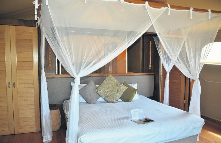The accommodation at the Zoofariretreat is African inspired.