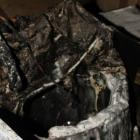 The remains of a Samsung washing machine, which caught fire and caused significant damage to a...